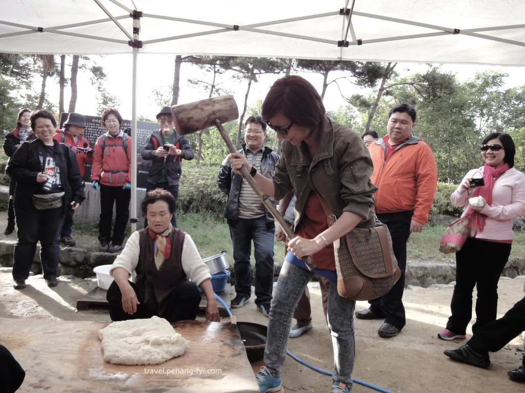 hands-on experience making rice cake