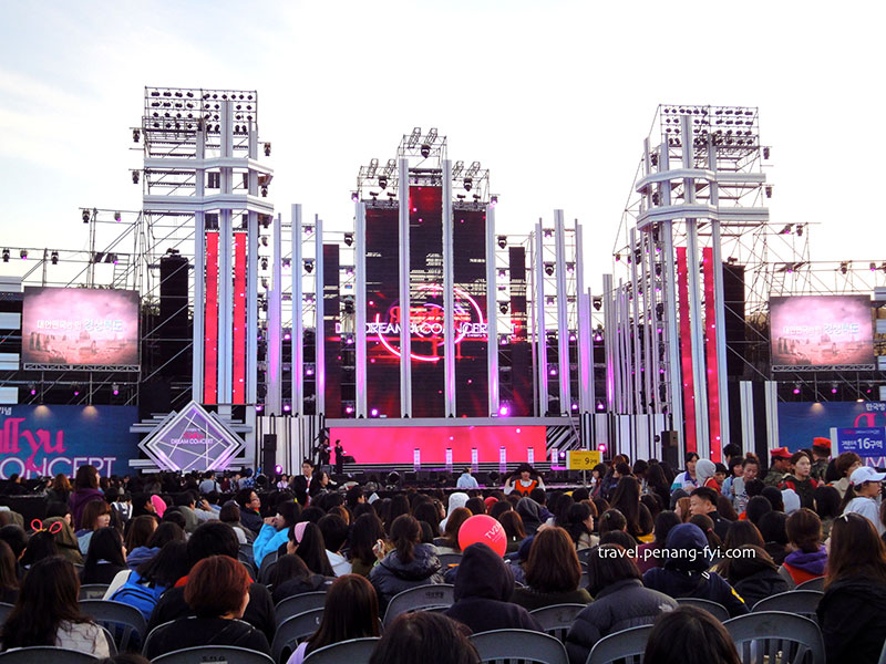 The stage of Hallyu Dream COncert