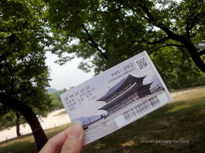 Gyeongbokgung ticket