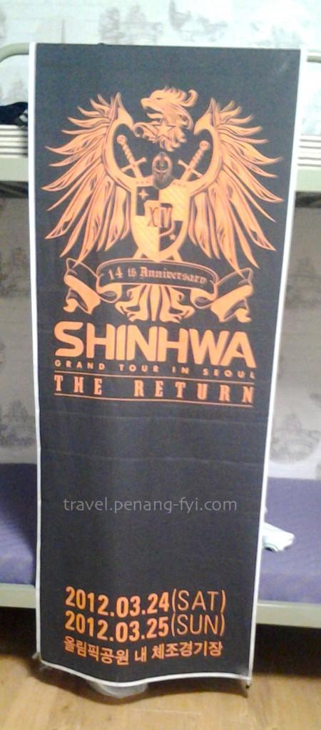 Shinhwa concert banner <3