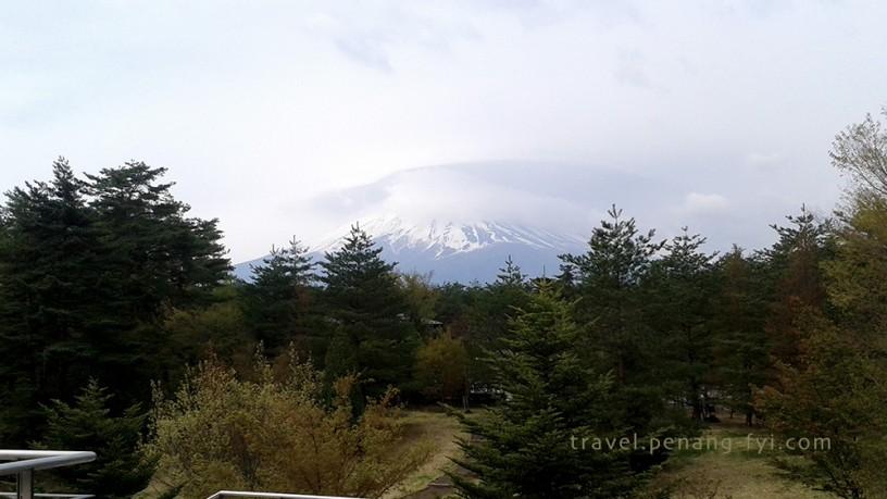 Beautiful top view of Mount Fuji from far
