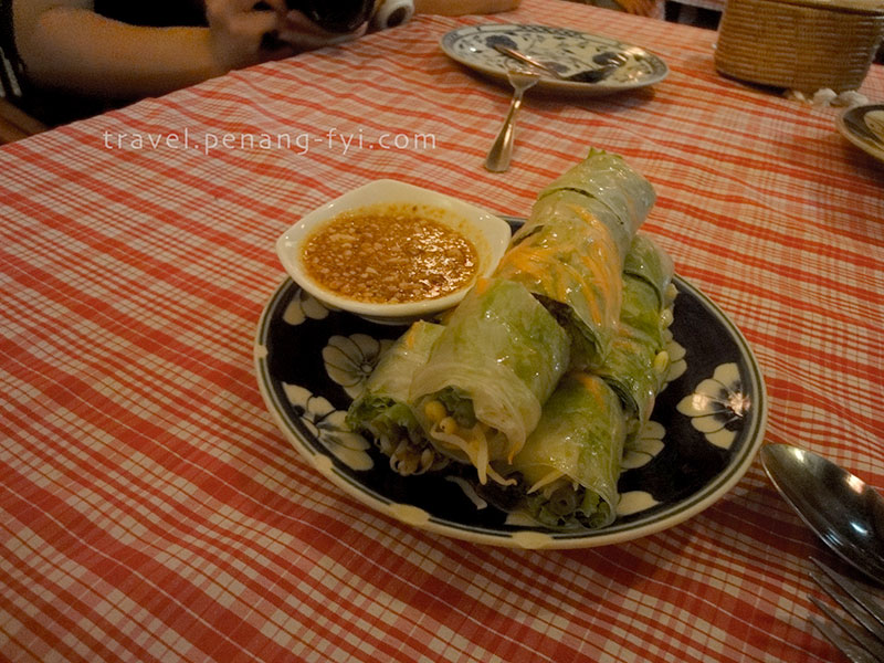 I love the spring rolls!