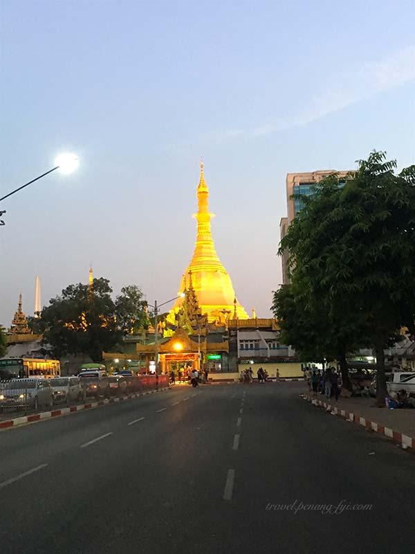 sule-pagoda-night