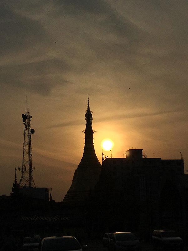 sule-pagoda-sunset