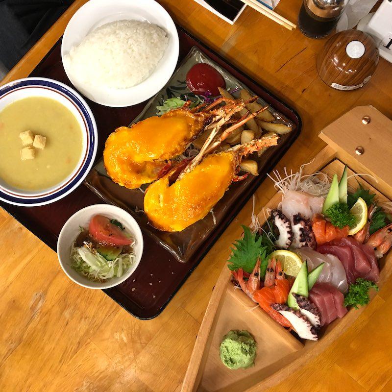 sashimi-lobster