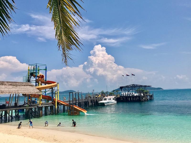 Water slides of Rawa Island Resort!